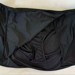 Black Skirted Swim Bottoms Sz 3X